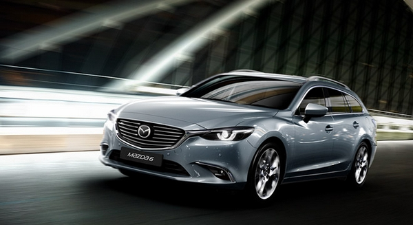 mazda 6 wagon 2019 on the road