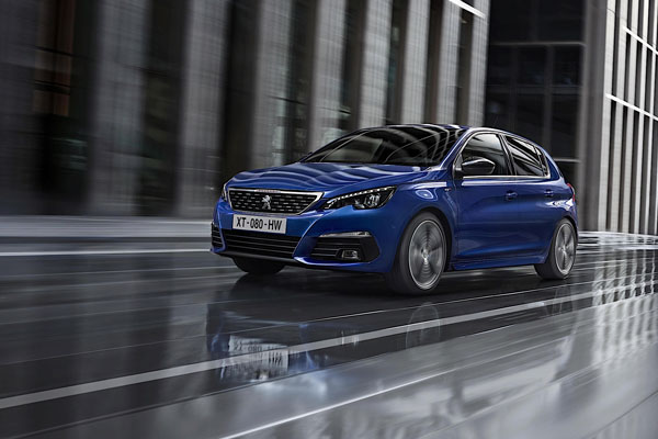 2018 Peugeot 308 on the road