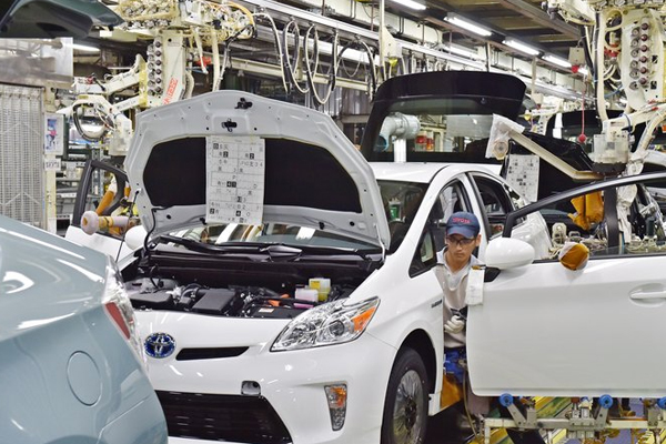Toyota car production