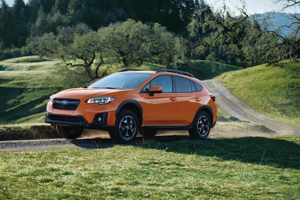 Subaru Crosstrek on the road
