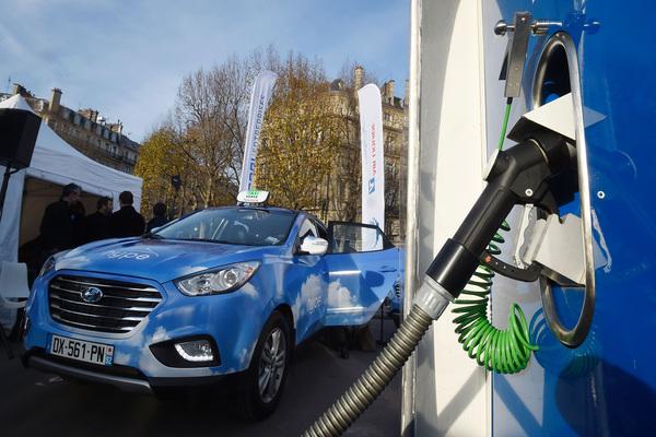 Blue natural gas car