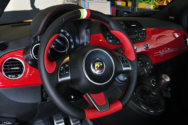 Customized dash and steering wheel