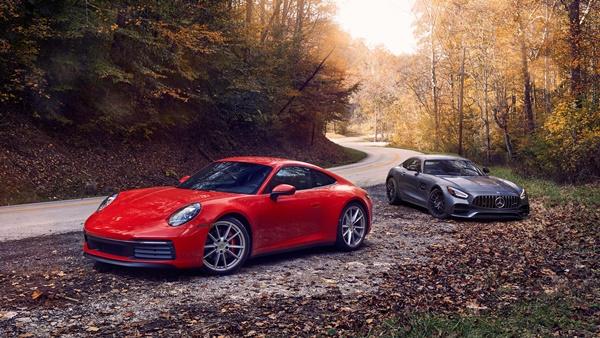 2020 porsche 911 vs mercedes AMG gt