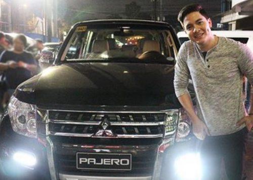 Alden Richards and his Mitsubishi Pajero