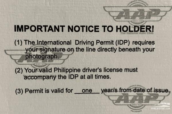 The International Driving Permit