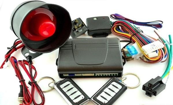 A car alarm's components