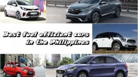 15 Best Fuel Efficient Cars in the Philippines From As Low As P550k